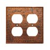 Premier Copper Products Copper Switchplate Double Duplex, 4 Hole Outlet Cover in Oil Rubbed Bronze