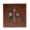 "Premier Copper Products 4"" x 4"" Copper Fleur De Lis Tile in Oil Rubbed Bronze"