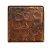 """Premier Copper Products 2"""" x 2"""" Hammered Copper Tile in Oil Rubbed Bronze (Set of 8)"""