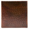 "Premier Copper Products 6"" x 6"" Hammered Copper Tile in Oil Rubbed Bronze (Set of 4)"