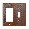 Premier Copper Products Copper Combination Switchplate Cover