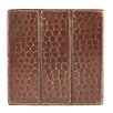 """Premier Copper Products 4"""" x 4"""" Hammered Copper Tile in Oil Rubbed Bronze"""