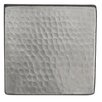 """Premier Copper Products 4"""" x 4"""" Hammered Copper Tile in Nickel"""