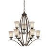 Vaxcel Sonora 9 Light Chandelier