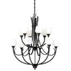 Vaxcel Grafton 12 Light Chandelier