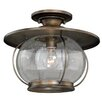 Vaxcel Jamestown 1 Light Semi Flush Mount
