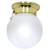 Nuvo Lighting Flush Mount in Polished Brass