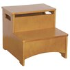 Guidecraft New Mission 2-Step Manufactured Wood Storage Step Stool with 200 lb. Load Capacity