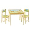 Guidecraft Savanna Smiles 3 Piece Rectangular Table & Chair Set