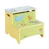 Guidecraft Savanna Smiles Kids Stool with Storage Compartment