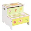 Guidecraft Gleeful Bugs Kids Stool with Storage Compartment