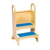 Guidecraft Household Helpers 2-Step Birch Plywood High Rise Step Stool with 200 lb. Load Capacity