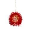 Varaluz Urchin Mini Pendant in Super Red