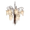 Varaluz Recycled Soho 9 Light Chandelier