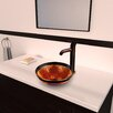 Vigo Fusion Glass Vessel Bathroom Sink with Seville Faucet