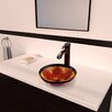 Vigo Fusion Glass Vessel Bathroom Sink with Otis Faucet
