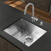 "Vigo Platinum 23"" x 18"" All in One Undermount Kitchen Sink with Faucet"