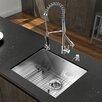 Vigo 23 inch Undermount Single Bowl 16 Gauge Stainless Steel Kitchen Sink with Zurich Chrome Faucet, Grid, Strainer and Soap Dispenser
