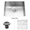 "Vigo 23"" x 18"" Undermount Single Bowl Kitchen Sink with Grid"