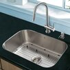 "Vigo Platinum 23"" x 17.75"" Undermount Stainless Steel Kitchen Sink with Faucet"