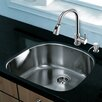 "Vigo Platinum 23.5"" x 21"" Undermount Stainless Steel Kitchen Sink with Faucet"