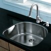 """Vigo Platinum 23.5"""" x 21"""" Undermount Stainless Steel Kitchen Sink with Faucet"""