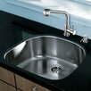 Vigo 24 inch Undermount Single Bowl 18 Gauge Stainless Steel Kitchen Sink with Avondale Stainless Steel Faucet, Grid, Strainer and Soap Dispenser