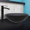 Vigo Glass Vessel Bathroom Sink and Duris Faucet Set