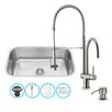 Vigo 30 inch Undermount Single Bowl 18 Gauge Stainless Steel Kitchen Sink with Dresden Stainless Steel Faucet, Grid, Strainer and Soap Dispenser