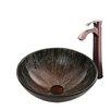 Vigo Enchanted Earth Glass Vessel Bathroom Sink and Otis Vessel Faucet with