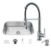 Vigo 30 inch Undermount Single Bowl 18 Gauge Stainless Steel Kitchen Sink with Edison Chrome Faucet, Grid, Strainer and Soap Dispenser