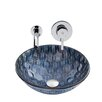 Vigo Playa Glass Vessel Bathroom Sink and Olus Wall Mount Faucet with Pop Up