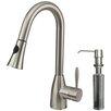 Vigo Aylesbury Single Handle Pull-Down Spray Kitchen Faucet with Soap Dispenser