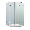 Vigo Gemini 42.125 x 42.125-in. Frameless Neo-Angle Shower Enclosure with .375-in. Clear Glass and Chrome Hardware