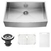 Vigo 36 inch Farmhouse Apron Single Bowl 16 Gauge Stainless Steel Kitchen Sink