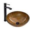 Vigo Vessel Bathroom Sink and Milo Faucet