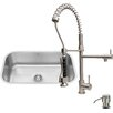 Vigo 30 inch Undermount Single Bowl 18 Gauge Stainless Steel Kitchen Sink with Zurich Stainless Steel Faucet, Grid, Strainer and Soap Dispenser