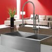 "Vigo 36"" x 22.25"" Double Bowl Farmhouse Kitchen Sink"