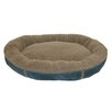 Zoey Tails Faux Suede Round Comfy Cup® Dog Bed in Blue