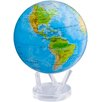 "MOVA Globes 8.5"" Blue Oceans Relief Map Globe with Crystal Base"