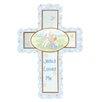 Precious Moments Jesus Loves Me Cross Baby Boy Figurine Hanging Art