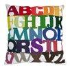 IMAX Rainbow ABC Cotton Throw Pillow