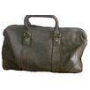 "David King 18"" Distressed Leather Carry-On Duffe"