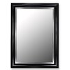 Hitchcock Butterfield Company Glossy Black Grande / Stainless Liner Framed Wall Mirror