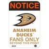 Steiner Sports Fans Only Aluminum Sign Textual Art