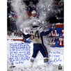Steiner Sports Tedy Bruschi Signed Snow Game and Super Bowl Photographic Print