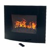 Northwest Curved Glass Wall Mount Electric Fireplace