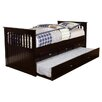 Discovery World Furniture Twin Rake Slat Bed with Trundle
