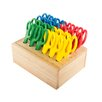 ECR4kids Cutting Edge® 24 Piece Classroom Blunt Tip Scissor Hardwood Rack Set