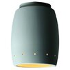 Justice Design Group Radiance Curved Flush Mount